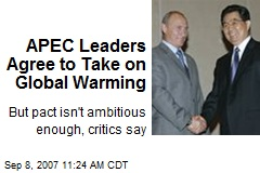 APEC Leaders Agree to Take on Global Warming