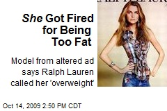 She Got Fired for Being Too Fat