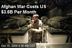 Afghan War Costs US $3.6B Per Month