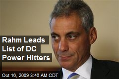 Rahm Leads List of DC Power Hitters