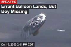 Errant Balloon Lands, But Boy Missing