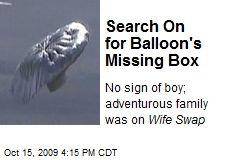 Search On for Balloon's Missing Box