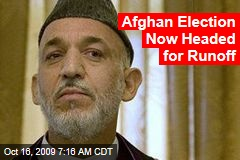 Afghan Election Now Headed for Runoff