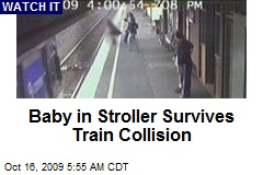 Baby in Stroller Survives Train Collision