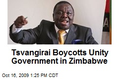 Tsvangirai Boycotts Unity Government in Zimbabwe