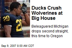 Ducks Crush Wolverines at Big House