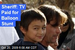 Sheriff: TV Paid for Balloon Stunt