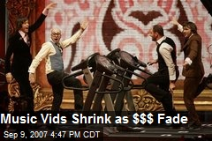 Music Vids Shrink as $$$ Fade