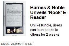 Barnes & Noble Unveils 'Nook' E-Reader