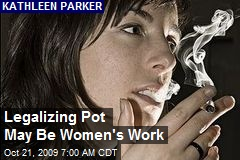 Legalizing Pot May Be Women's Work