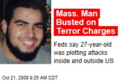 Mass. Man Busted on Terror Charges