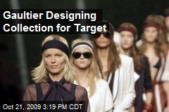 Gaultier Designing Collection for Target