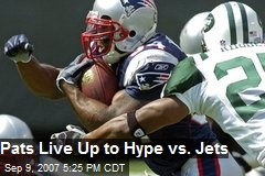 Pats Live Up to Hype vs. Jets