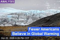 Fewer Americans Believe in Global Warming