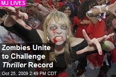 Zombies Unite to Challenge Thriller Record