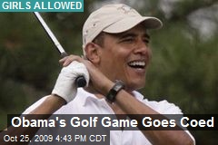 Obama's Golf Game Goes Coed