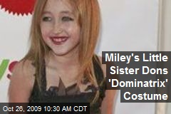 Miley's Little Sister Dons 'Dominatrix' Costume