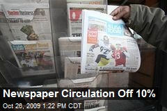 Newspaper Circulation Off 10%