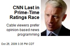 CNN Last in Prime-Time Ratings Race