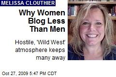 Why Women Blog Less Than Men