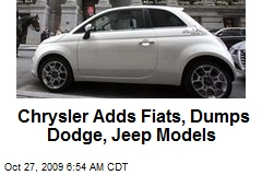 Chrysler Adds Fiats, Dumps Dodge, Jeep Models