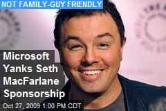 Microsoft Yanks Seth MacFarlane Sponsorship