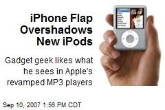 iPhone Flap Overshadows New iPods