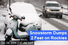 Snowstorm Dumps 2 Feet on Rockies