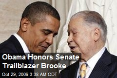 Obama Honors Senate Trailblazer Brooke