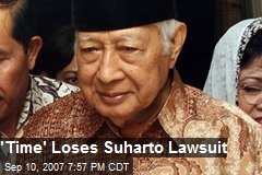 'Time' Loses Suharto Lawsuit
