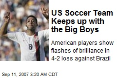 US Soccer Team Keeps up with the Big Boys