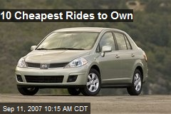10 Cheapest Rides to Own