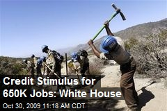 Credit Stimulus for 650K Jobs: White House