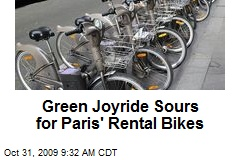 Green Joyride Sours for Paris' Rental Bikes