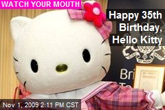 Happy 35th Birthday, Hello Kitty