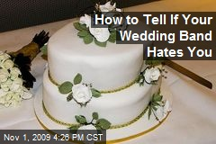 How to Tell If Your Wedding Band Hates You