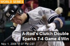 A-Rod's Clutch Double Sparks 7-4 Game 4 Win