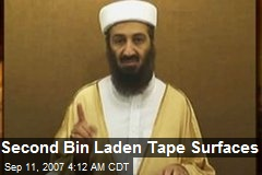 Second Bin Laden Tape Surfaces