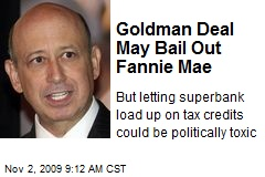 Goldman Deal May Bail Out Fannie Mae