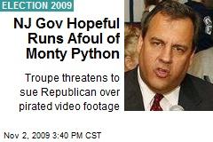 NJ Gov Hopeful Runs Afoul of Monty Python