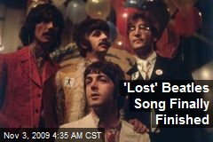 'Lost' Beatles Song Finally Finished