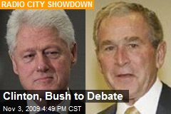 Clinton, Bush to Debate