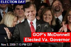 GOP's McDonnell Elected Va. Governor