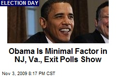 Obama Is Minimal Factor in NJ, Va., Exit Polls Show