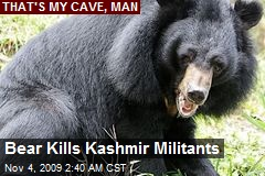 Bear Kills Kashmir Militants