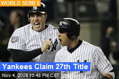 Yankees Claim 27th Title
