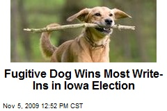 Fugitive Dog Wins Most Write-Ins in Iowa Election