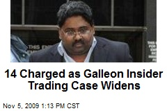 14 Charged as Galleon Insider Trading Case Widens