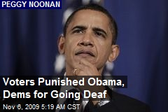Voters Punished Obama, Dems for Going Deaf