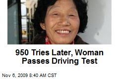 950 Tries Later, Woman Passes Driving Test